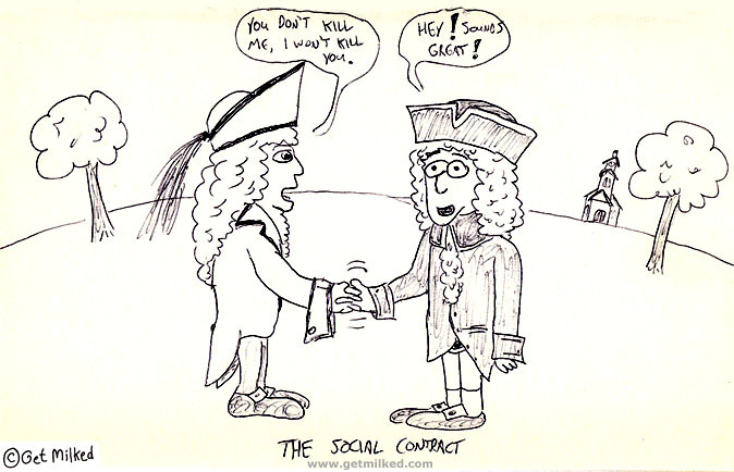Cartoon I wont kill you New Social Contract